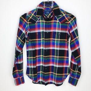 Ralph Lauren Multi-Color Plaid Button Down Shirt